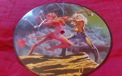 "EX! IRON MAIDEN RUN TO THE HILLS 7"" VINYL PICTURE PIC DISC  Emip 5263 A"