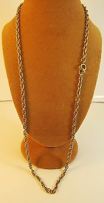 """Reduced Solid Vintage 18"""" 9ct Gold PRINCE WALES Chain Necklace 10.5gr Hm 3mm"""