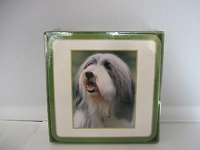 Bearded Collie  dog set of 6 coasters new - Clearance SALE!!!