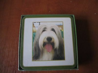 Bearded Collie dog set of 6 coasters new - Clearance SALE!!! NEW