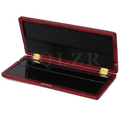 Elegant Hand Made Red Wood Color Saxophone Reed Case Hold 10 Reeds Durable