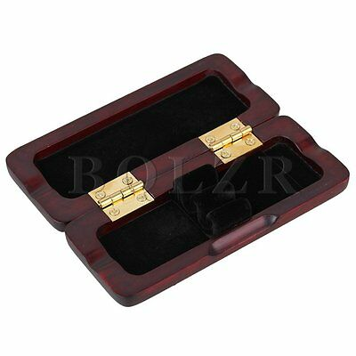 Wood Handmade Mahogany Color Oboe Reed Case Protector Holds 2pcs Oboe Reeds