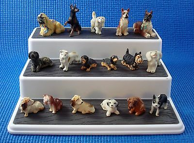 LOT OF 17 Miniature Ceramic Resin DOG Miscellaneous Figurines