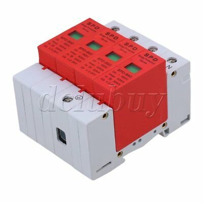 AC 420V 60KA 4 Poles Din Rail Over Voltage Surge Protection Device Arrester