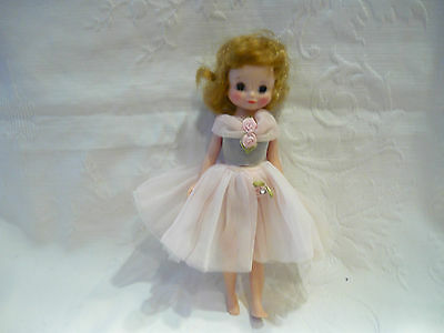 Vintage Besty McCall Jointed  Doll in Pink Tolle Dress