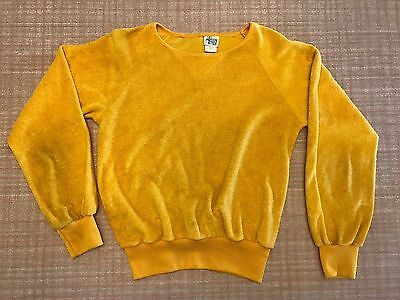 Vtg 1980s Fashion Tree Women's Terry Sweatshirt Yellow SmallVtg 1980s Fashion Tr
