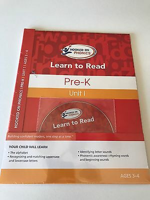 NEW Hooked On Phonics Learn To Read Pre K Unit 1 Ages 3-4