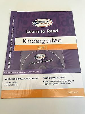 NEW Hooked On Phonics Learn To Read Kindergarten Unit 1 Ages 4-5