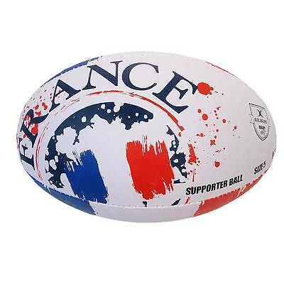 Ballon de rugby Gilbert Ffrance t5 flag rugby Blanc 40712 - Neuf