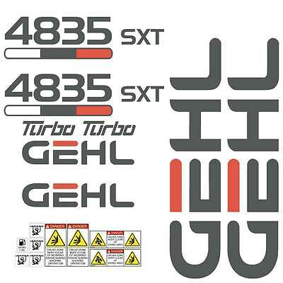Gehl 4835 SXT Skid Steer loader, laminated, repro decals sticker set kit