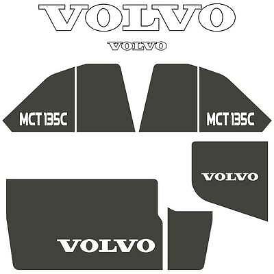 Volvo MCT135C Decals Stickers Repro Decal Kit for Compact Track Skid Loader