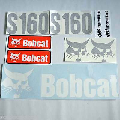 S160 decals S160 stickers bobcat Skid loader DECAL SET