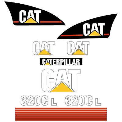 CAT 320B 320BL 320c 320CL Decals Stickers
