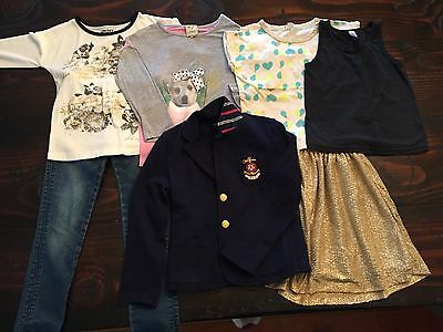 Girls Size 5/6 School Play Dressy Clothes Brand Lot 7 pcs Mix&Match RL Hudson