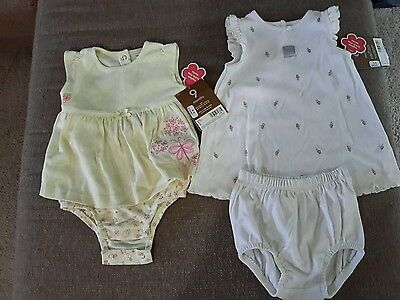 Lot of 2 Carters outfits girls size 9 months nwt