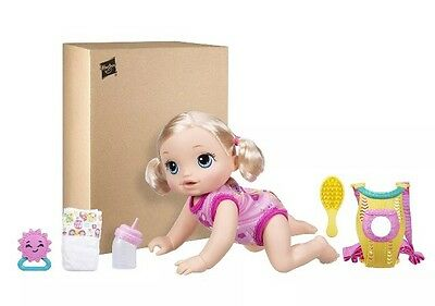 NEW!! Baby Alive Baby Go Bye Bye (Blonde) Interactive Doll Hasbro Sounds Play