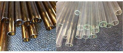 Glass Tube, 250mm and 500mm pk 10 or 15, Clear or Brown, 1mm thick, 10mm/ 11mm