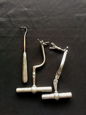 Old Medical Instruments, Unusual Collectible Items, Metal, 3 pieces, Vintage
