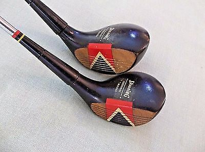Left Handed Vintage Spalding Personal Model #1 Driver and #3 Wood, LH Golf Clubs