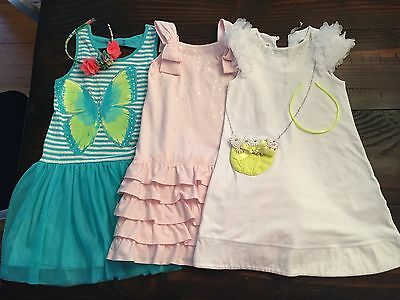 Girls Size 5/6 Sparkly Dress Lot 3pcs Hadbands Pretty