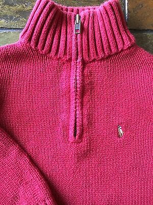 Ralph Lauren Polo sweater size 3 3T Boys pullover zip neck Red Toddler