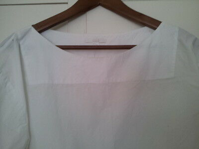 COS Women's White Cotton Top - Size 12