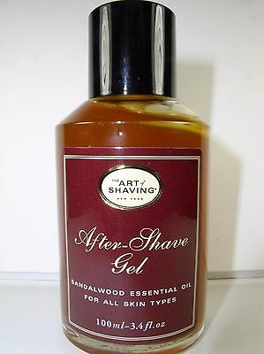 The Art Of Shaving After Shave Gel Sandalwood Essential Oil 3.4 Oz Free Shipping