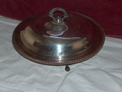 """Silverplate Covered Serving Bowl Vegetable Casserole Sheffield USA Nice 12"""""""