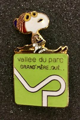 Vintage Peanuts Snoopy Ski Pin In French Quebec Canada