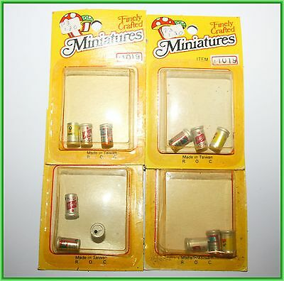 Miniature Small Dollhouse Lot Beer Tab Can Coors Schlitz Budweizer Bud Pack Set