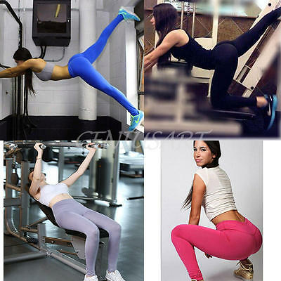 Womens YOGA Workout Gym Sports Pants Leggings Exercise Fitness Stretch Trousers