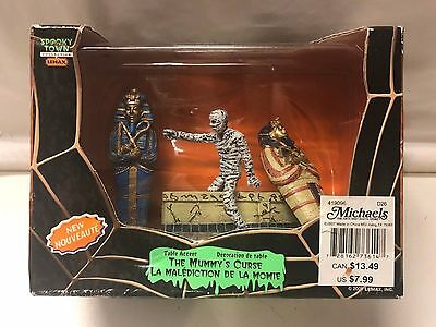 NIB Retired 2007 Lemax Spooky Town THE MUMMY'S CURSE Table Accent NEW IN BOX