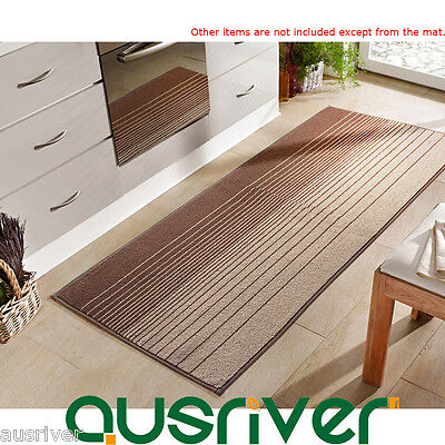 Long Oil-Absorbing Striped Kitchen Doormat Floor Mat Rug 50x80/120/180cm DA7833