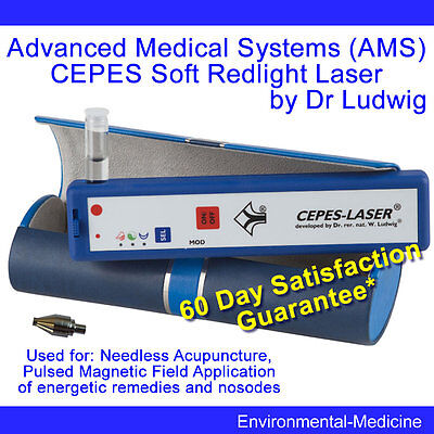 AMS Soft CEPES Laser with Pulsed Magnetic Field for inserted remedies NEW PEMF
