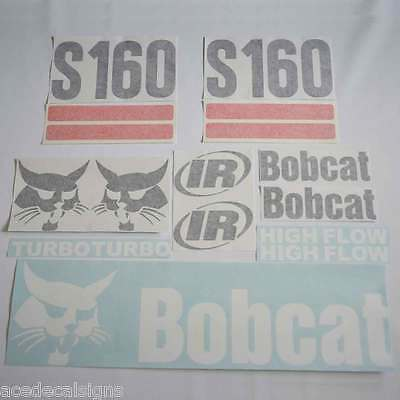 S160 Decals,S160 Stickers, Bobcat Loader Sticker Kit (2 Srp)