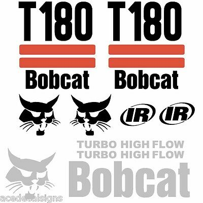 BOBCAT T180 Decals, T180 Stickers Skid Steer loader DECAL SET (2 Stripe)
