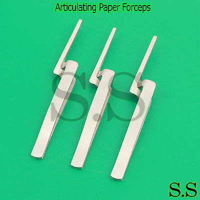 3 Articulating Paper Forceps Straight Surgical Dental Instrument-A+QULTY