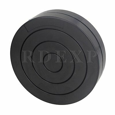 Black Round Plastic Rotary Plate Turnplate Clay Pottery Sculpture Tool 11.3CM