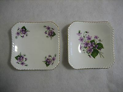 2 Royal Adderley 'Violets' Pin Dishes