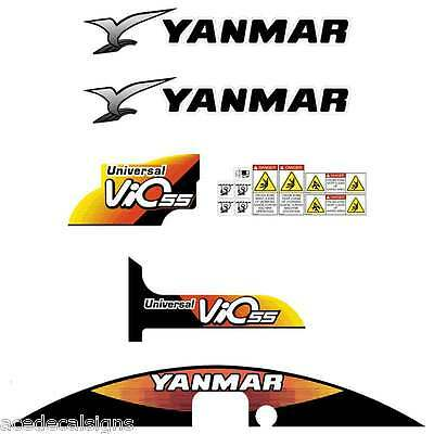 Yanmar VIO55-5 Decals Stickers Kit Set Mini Excavator