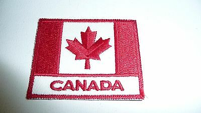 CANADIAN FLAG PATCH Embroidered Choose Size Amount Sew or Iron On FREE SHIPPING!
