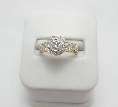 18Ct Yellow Gold 3/4Ct Diamond Ring Valued @$4510 Comes With Valluation