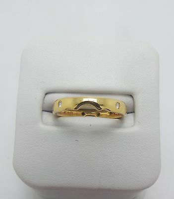 18ct YELLOW GOLD DIAMOND WEDDING BAND RING VALUED @$1537 COMES WITH VALUATION