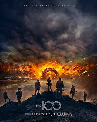 "8659 Hot Movie TV Shows - The 100 Season 4 24""x30"" Poster"