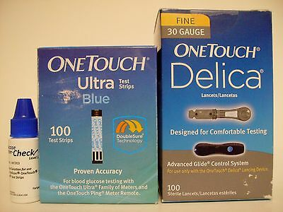 100 One Touch Ultra Blue, Control, And Delica Lancets With Next Day Shipping