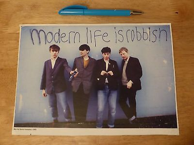 Blur Modern Life Is Rubbish - Rare poster photo / magazine cut out FAN CLUB ONLY