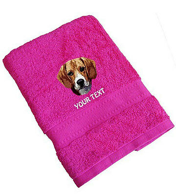 Beagle Personalised Towel Various Colours And Sizes.