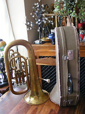 Antique Alliance Lafleur by Boosey & Hawkes No 8939 Baritone Horn with Case