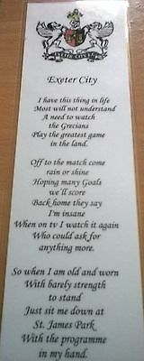 Exeter City FC Bookmark