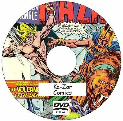 Ka-Zar Comic Collection 82 issues 1970 - 2011 on DVD The Savage